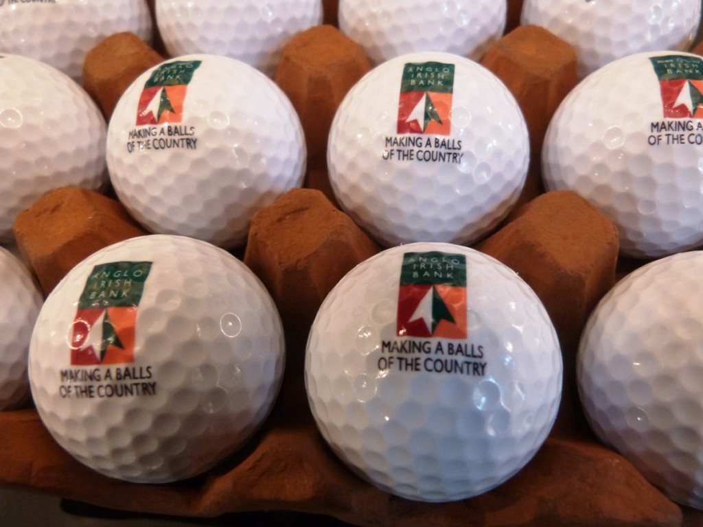 Anglo Irish Bank Golf Balls (compressed image)- Frank O'Dea - Making a Balls of the Country - FREE TO PUBLISH 26